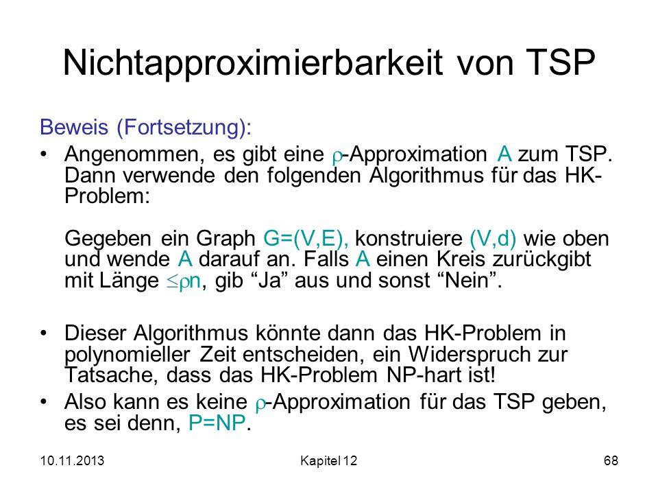 Nichtapproximierbarkeit von TSP
