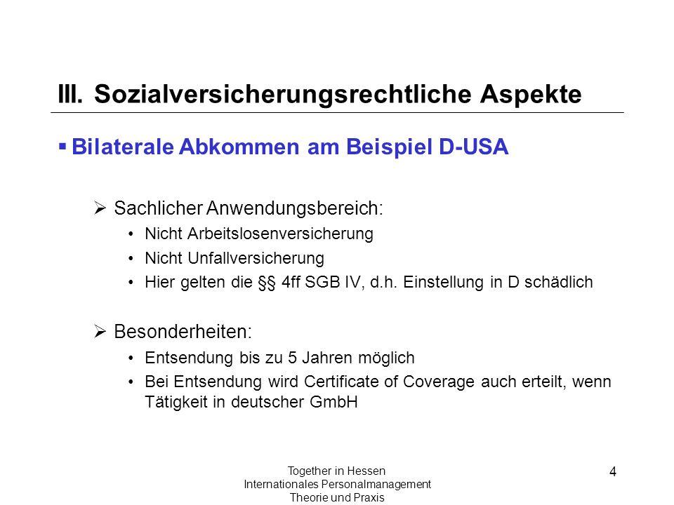 III. Sozialversicherungsrechtliche Aspekte