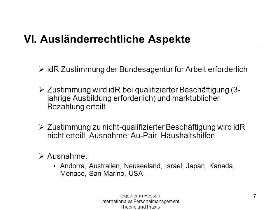VI. Ausländerrechtliche Aspekte