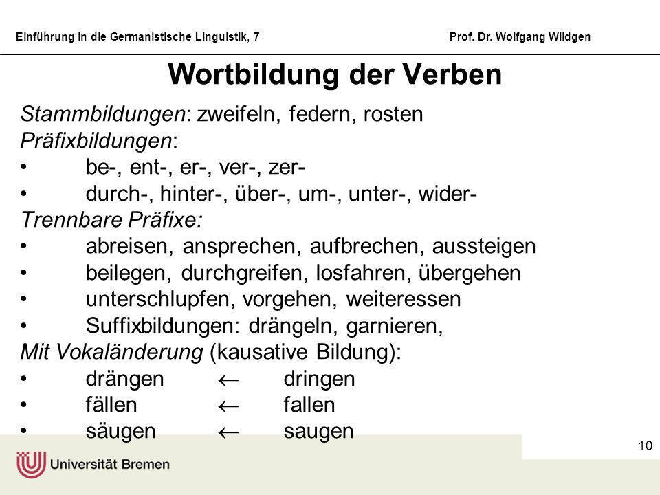 Wortbildung der Verben