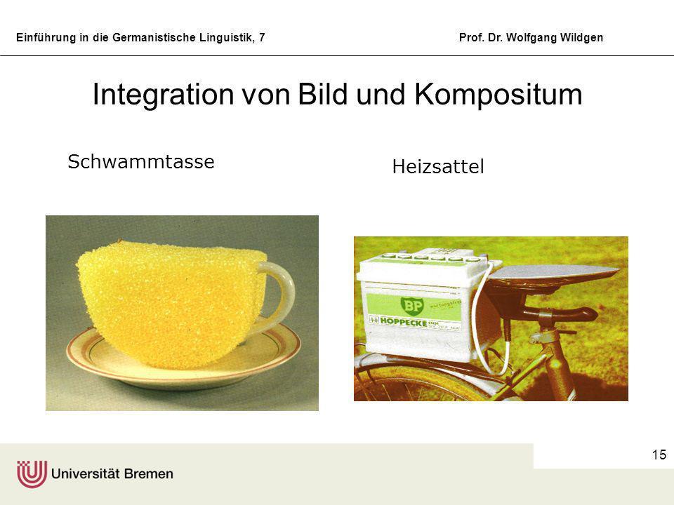 Integration von Bild und Kompositum