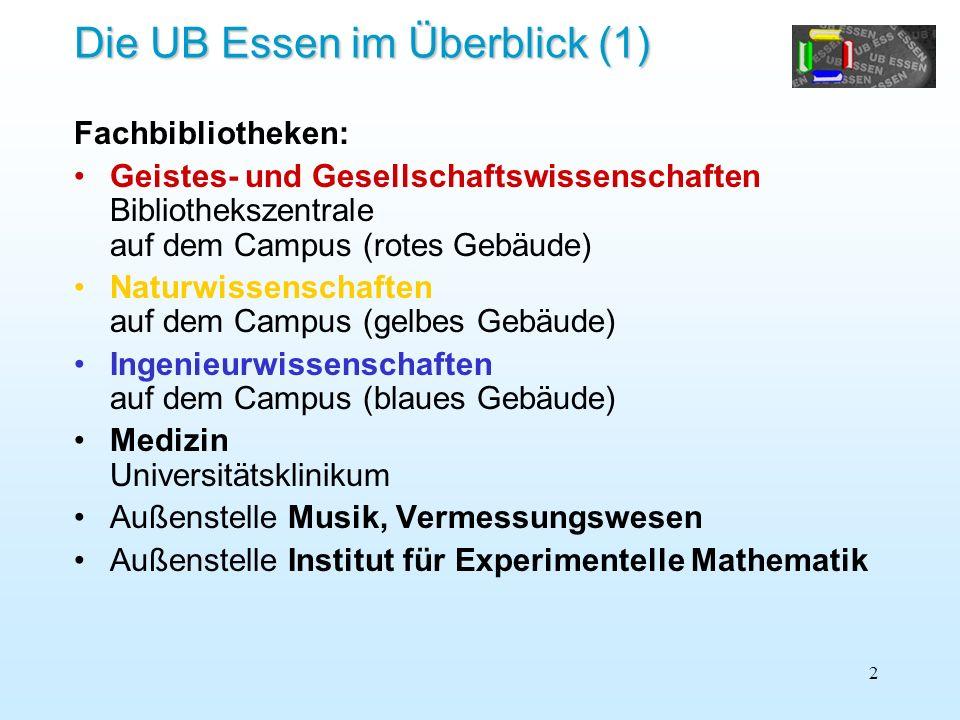 Die UB Essen im Überblick (1)