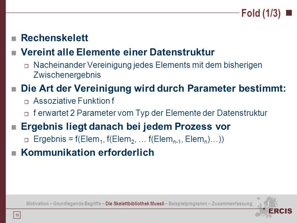 Fold (1/3) Rechenskelett Vereint alle Elemente einer Datenstruktur