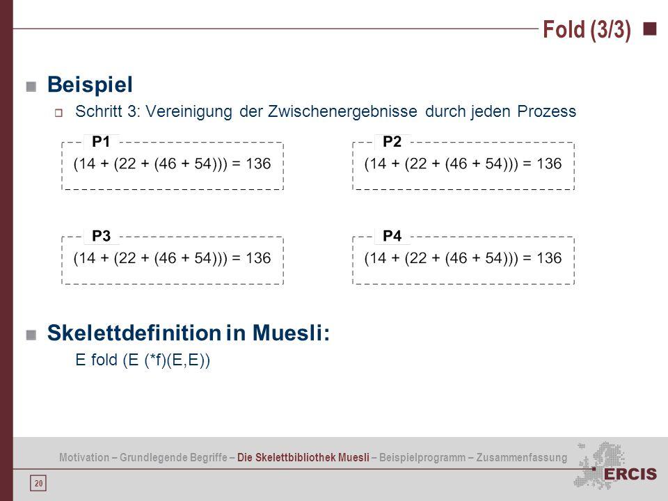 Fold (3/3) Beispiel Skelettdefinition in Muesli: