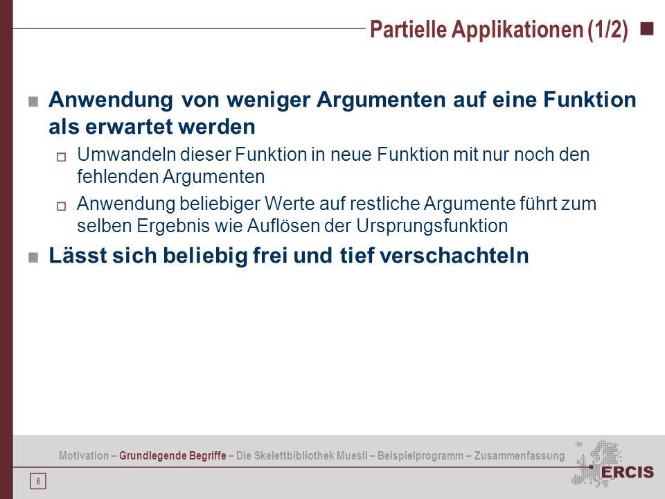 Partielle Applikationen (1/2)