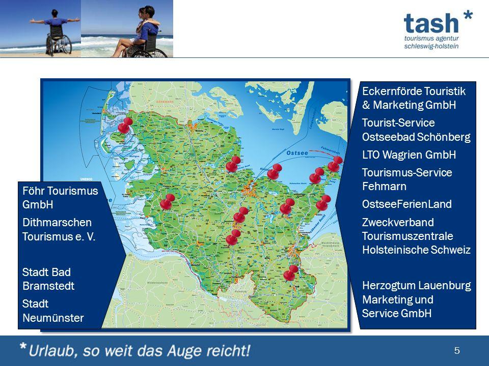 Föhr Tourismus GmbH Dithmarschen Tourismus e. V. Stadt Bad Bramstedt. Stadt Neumünster. Eckernförde Touristik & Marketing GmbH.