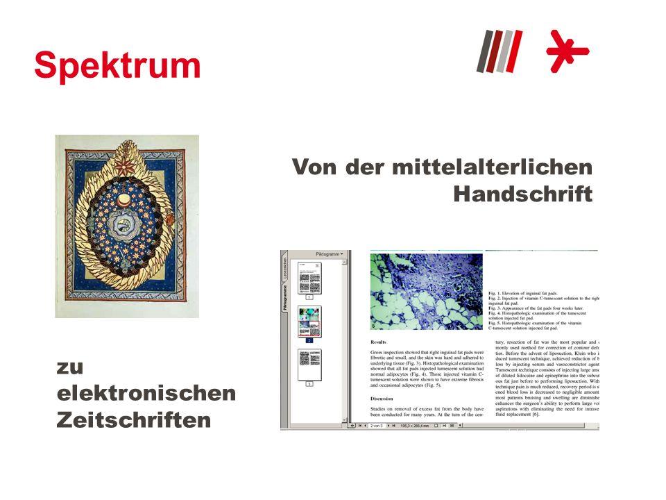 Spektrum Von der mittelalterlichen Handschrift