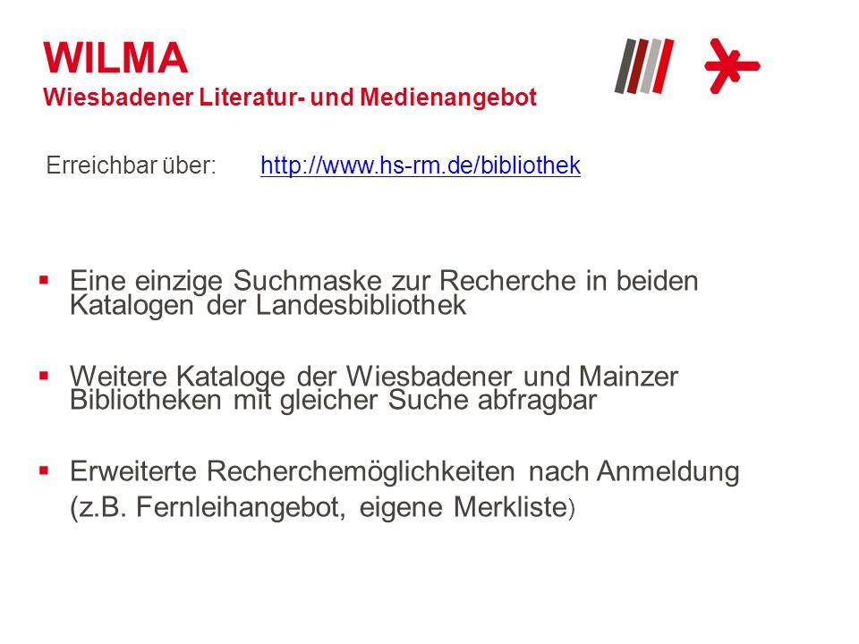 WILMA Wiesbadener Literatur- und Medienangebot