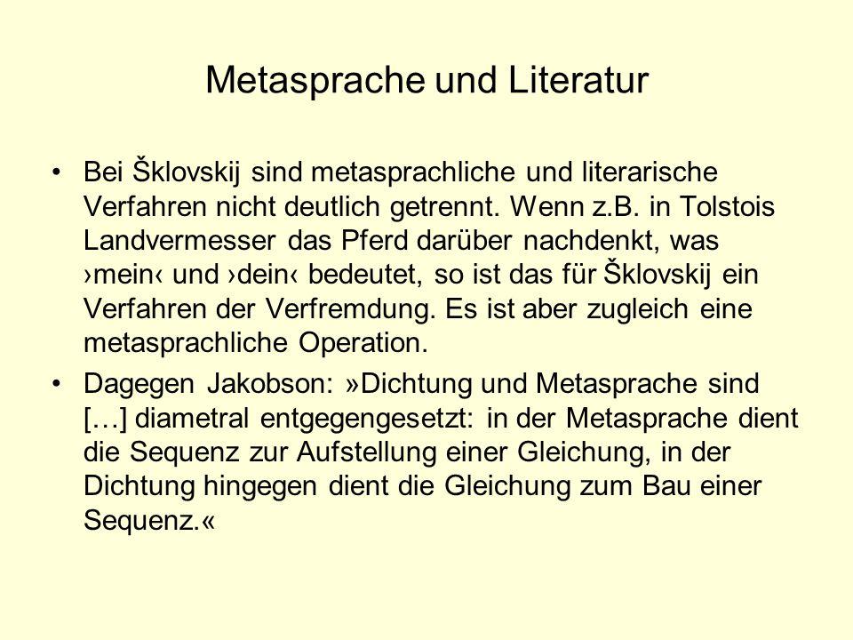 Metasprache und Literatur