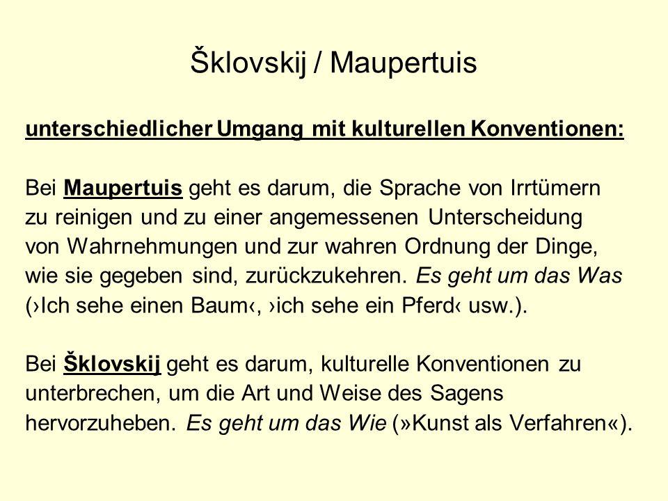 Šklovskij / Maupertuis