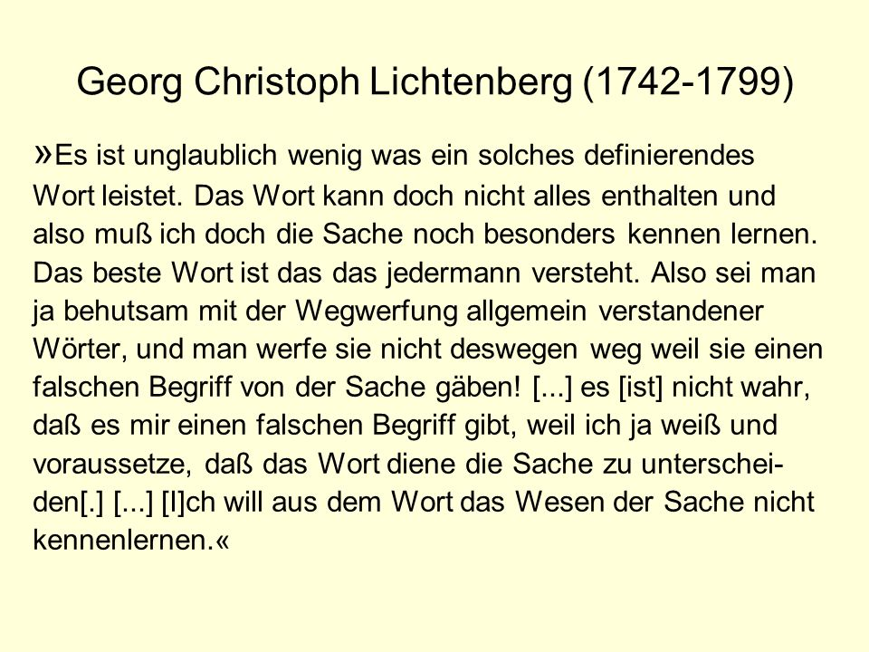 Georg Christoph Lichtenberg (1742-1799)