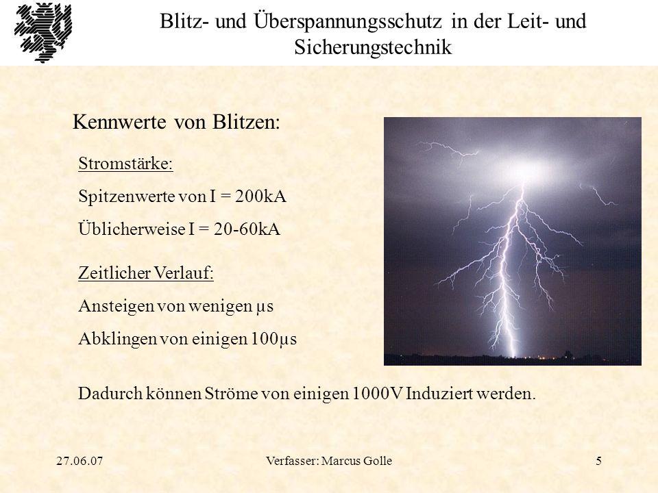Blitz- und Überspannungsschutz in der Leit- und Sicherungstechnik