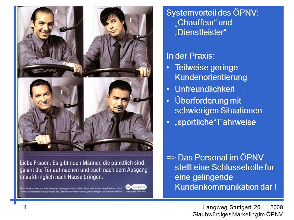 """Systemvorteil des ÖPNV: """"Chauffeur und """"Dienstleister"""