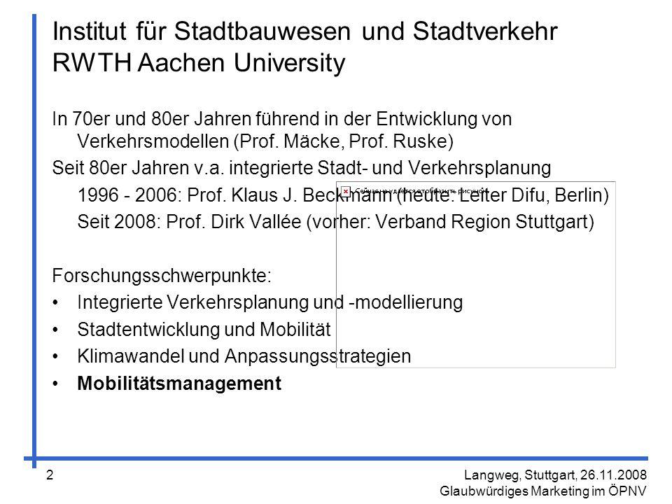 Institut für Stadtbauwesen und Stadtverkehr RWTH Aachen University