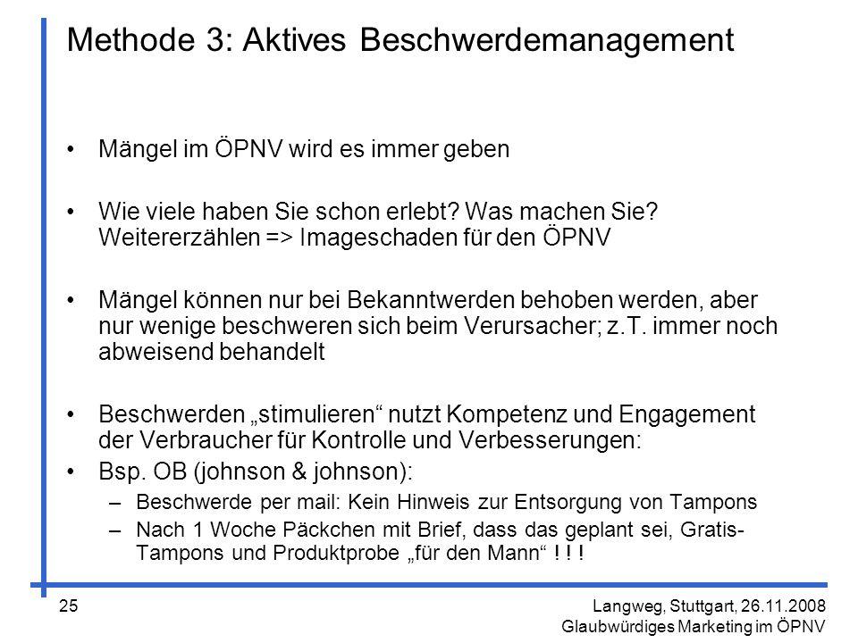 Methode 3: Aktives Beschwerdemanagement