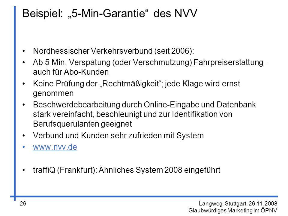 """Beispiel: """"5-Min-Garantie des NVV"""
