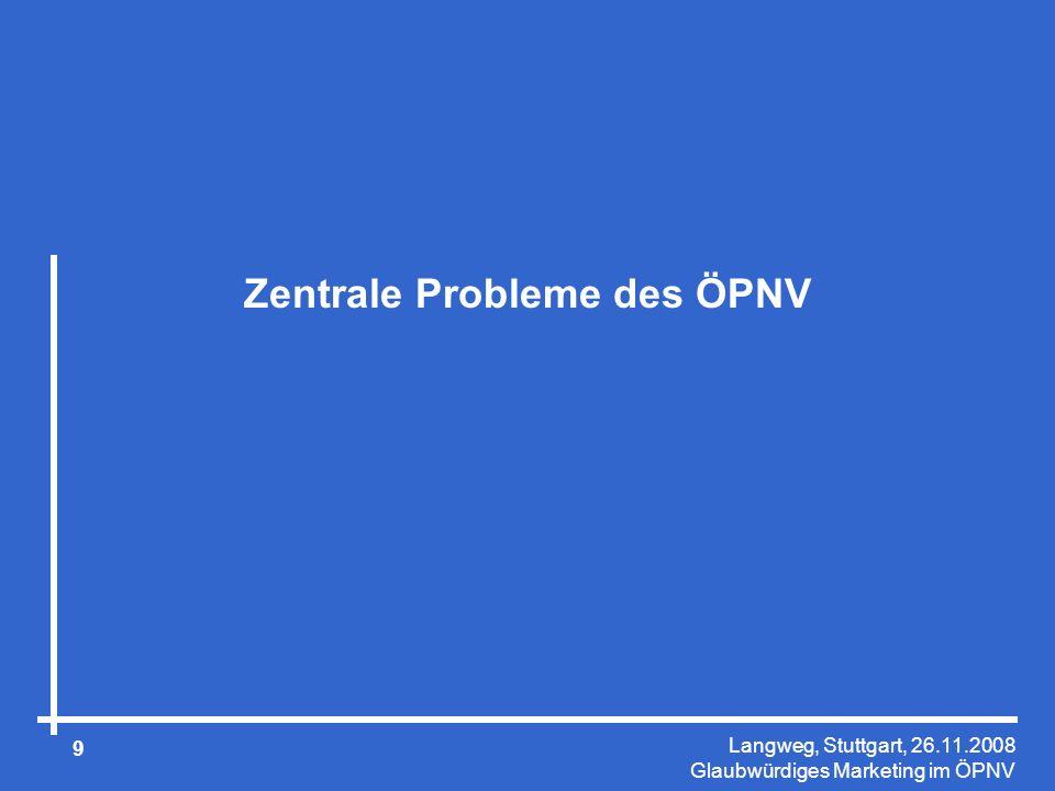 Zentrale Probleme des ÖPNV