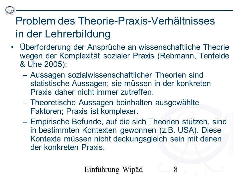 Problem des Theorie-Praxis-Verhältnisses in der Lehrerbildung