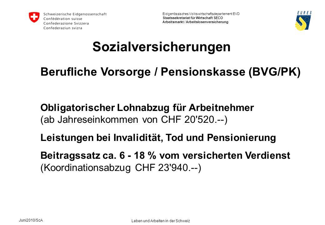 Sozialversicherungen