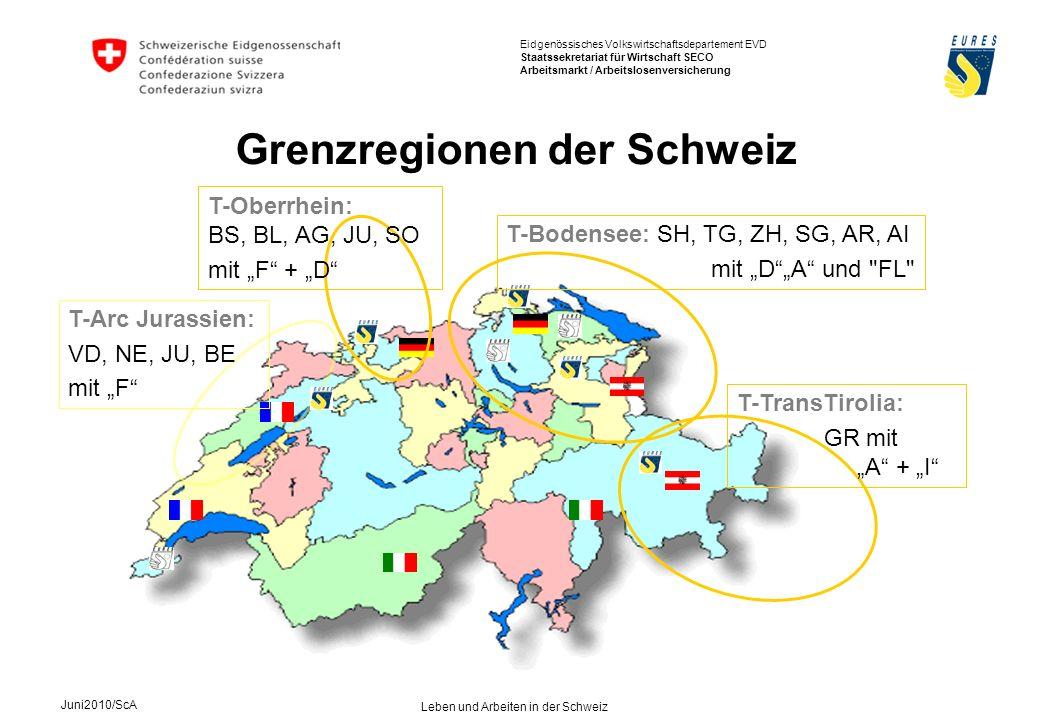 Grenzregionen der Schweiz