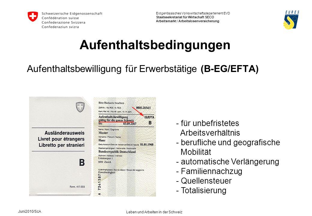Aufenthaltsbewilligung für Erwerbstätige (B-EG/EFTA)