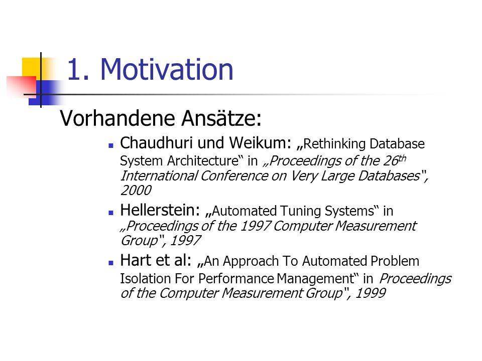 1. Motivation Vorhandene Ansätze: