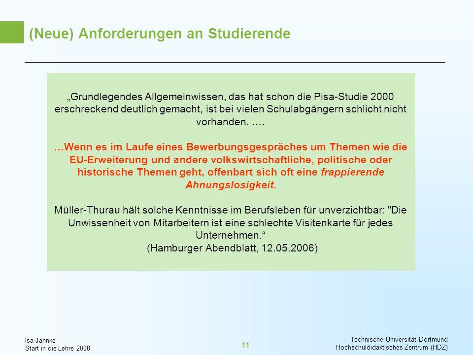 (Neue) Anforderungen an Studierende