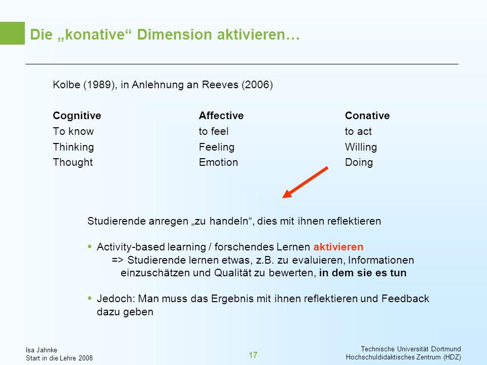 """Die """"konative Dimension aktivieren…"""