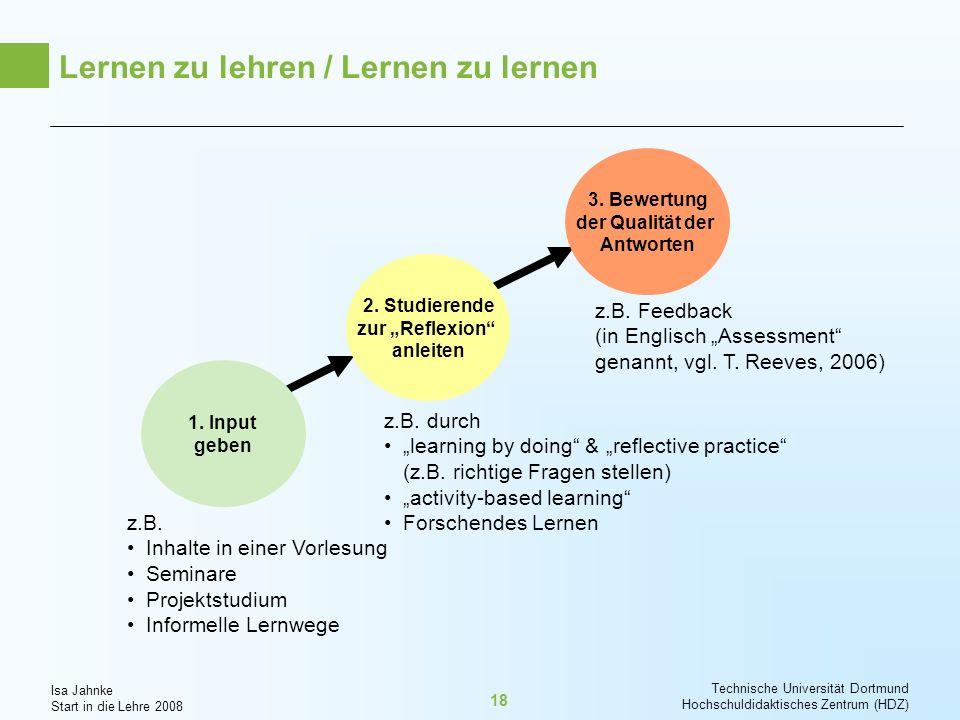 Lernen zu lehren / Lernen zu lernen