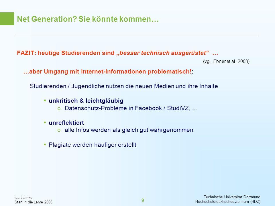Net Generation Sie könnte kommen…