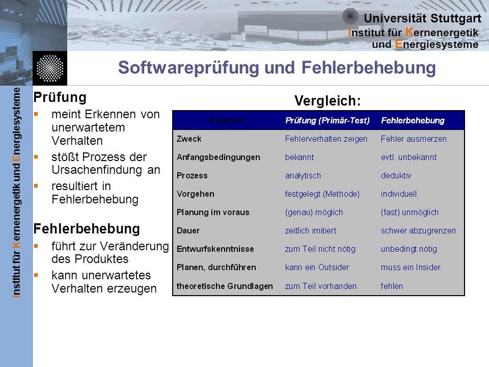 Softwareprüfung und Fehlerbehebung