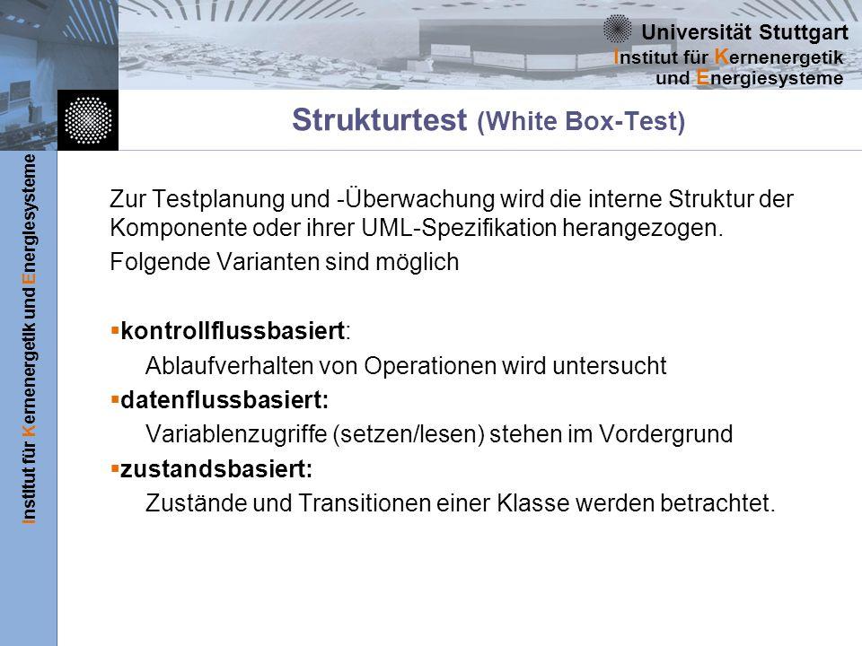 Strukturtest (White Box-Test)