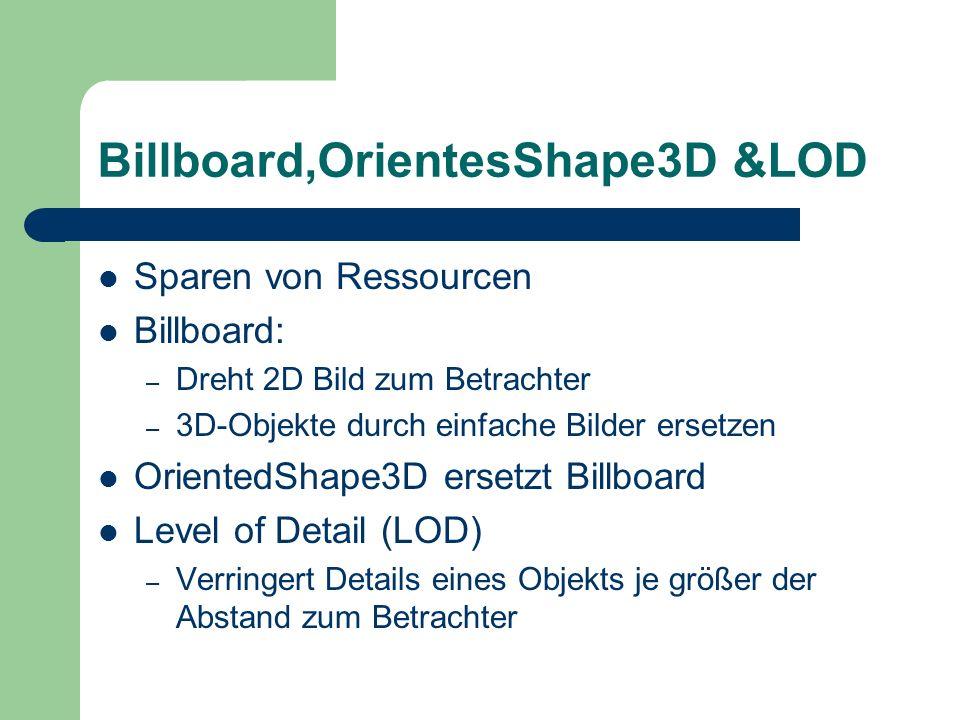 Billboard,OrientesShape3D &LOD