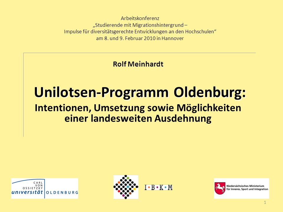 Unilotsen-Programm Oldenburg:
