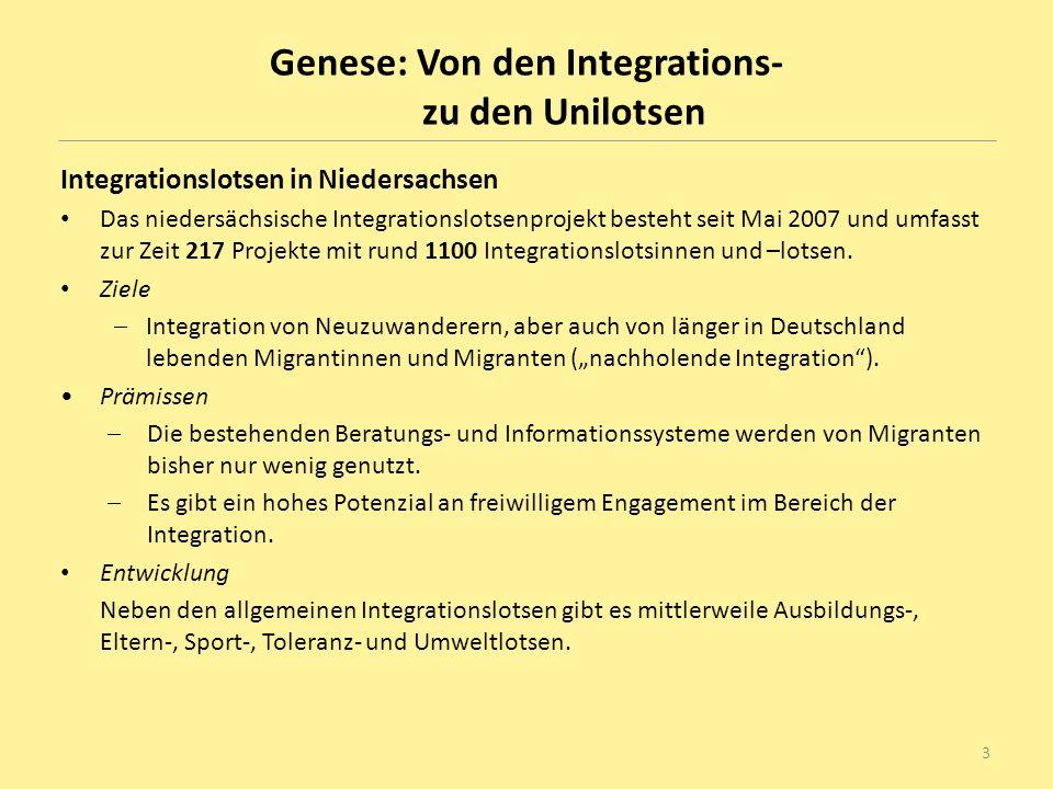 Genese: Von den Integrations- zu den Unilotsen
