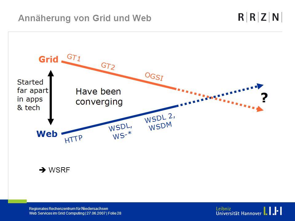 Annäherung von Grid und Web