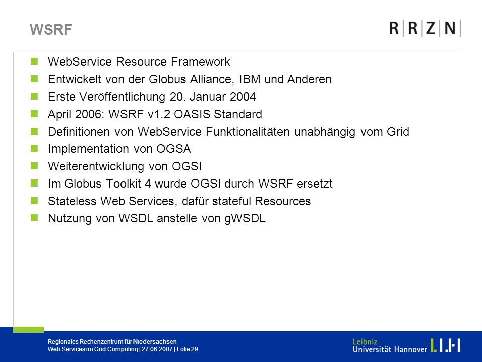 WSRF WebService Resource Framework