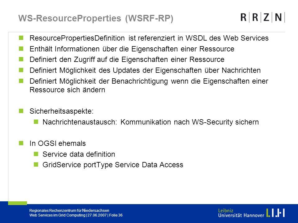 WS-ResourceProperties (WSRF-RP)