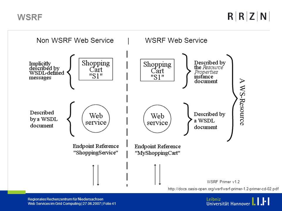 Non WSRF Web Service | WSRF Web Service