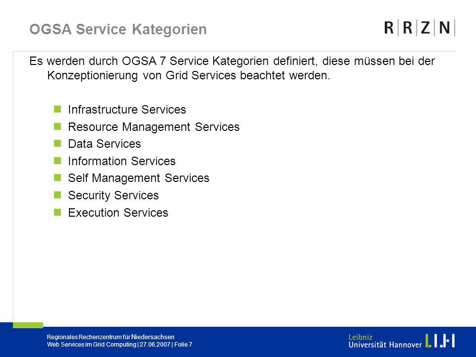 OGSA Service Kategorien