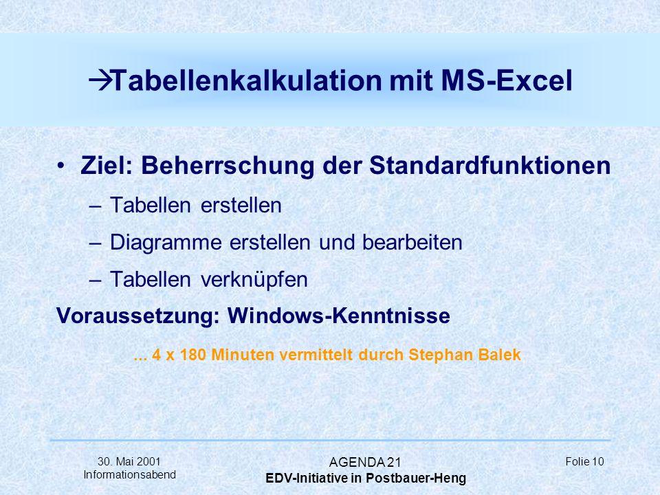 Tabellenkalkulation mit MS-Excel