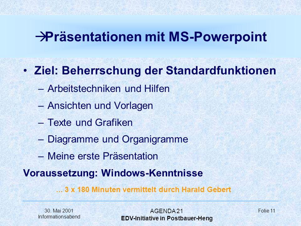 Präsentationen mit MS-Powerpoint