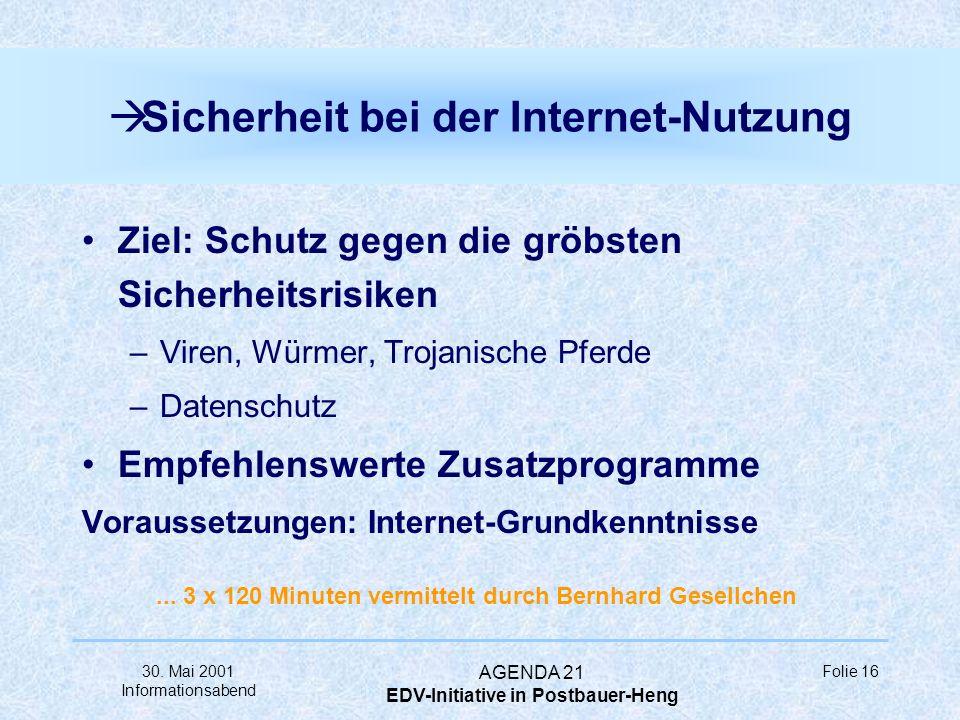 Sicherheit bei der Internet-Nutzung