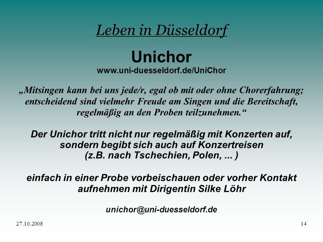 Unichor Leben in Düsseldorf