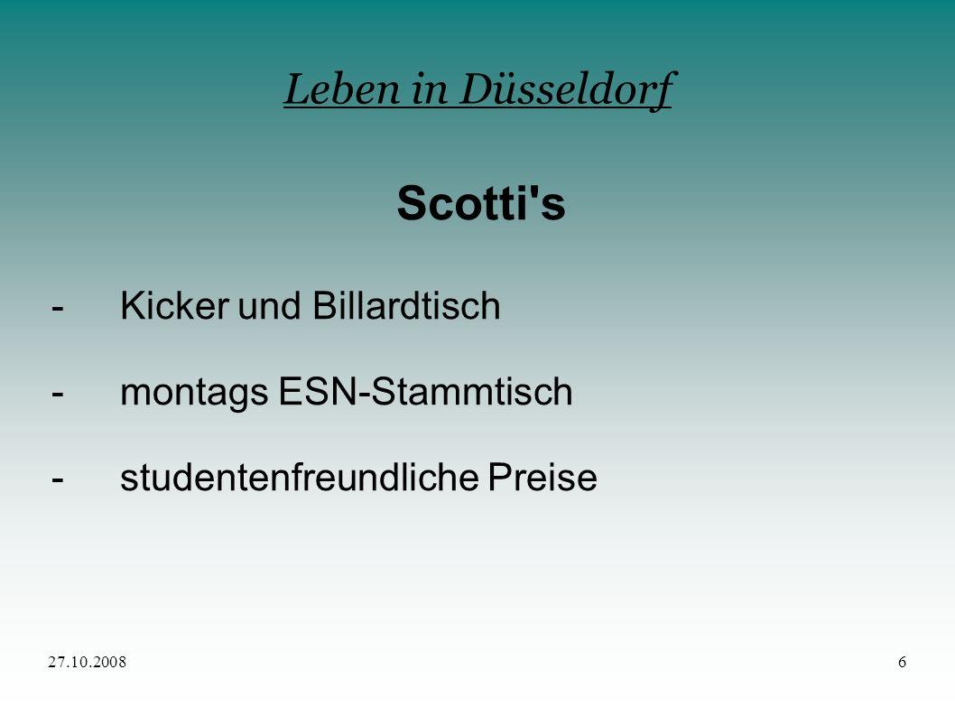 Scotti s Leben in Düsseldorf - Kicker und Billardtisch