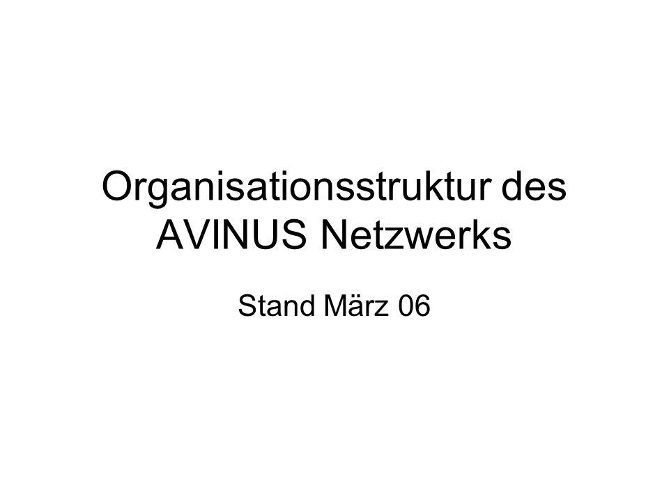 Organisationsstruktur des AVINUS Netzwerks