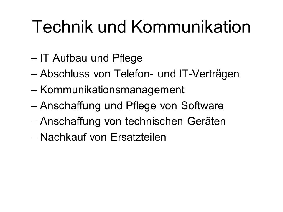 Technik und Kommunikation