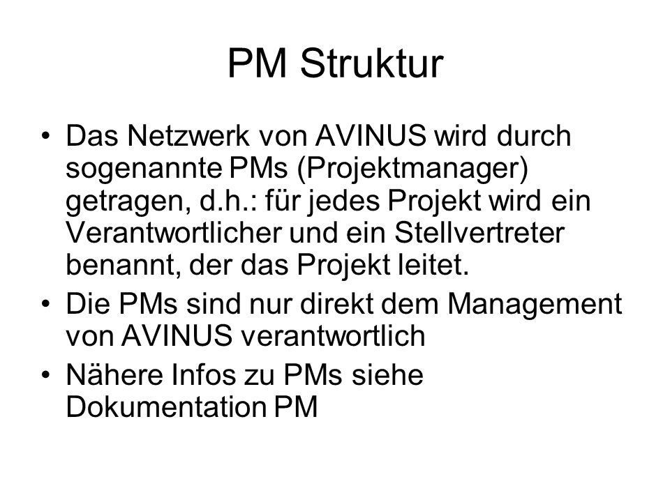PM Struktur