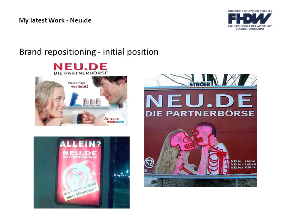Brand repositioning - initial position