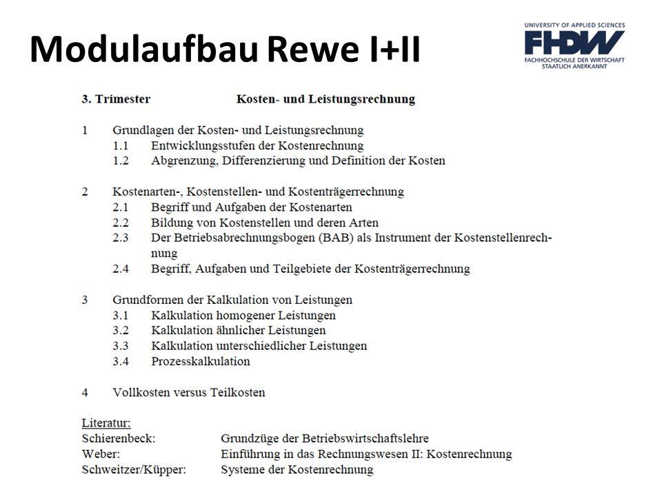 Modulaufbau Rewe I+II